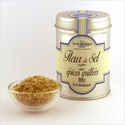 Fleur de sel aux pices grill es 90g l epicurieuse epicerie fine - Fleur de sel aux epices grillees ...
