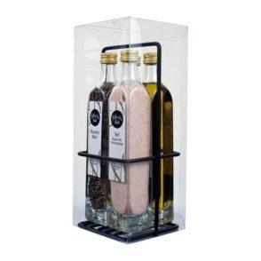 1001huiles - Cadeau - Huile, Vinaigre, Sel Rose, Poivre noir - Epicurieuse, Stockel, Bruxelles, Belgique