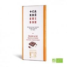 Chocolat au Lait – Nougatine aux amandes – Carré Suisse Recette 12
