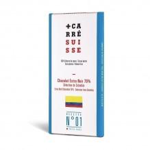 Chocolat extra Noir 70% – Sélection de Colombie – Carré Suisse Recette 01