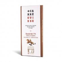 Chocolat Noir – Cranberry & Gingembre – Carré Suisse Recette 23