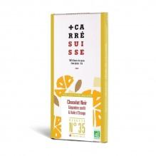 Carré Suisse – Chocolat noir Gingembre confit & huile d'orange recette 35