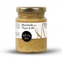 Moutarde au thym et à l'ail – 1001 Huiles – 100g