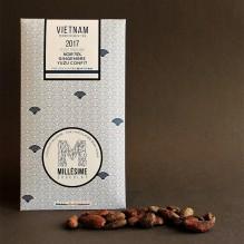 Millésime Chocolat – Vietnam: noir 75% gingembre-yuzu confit